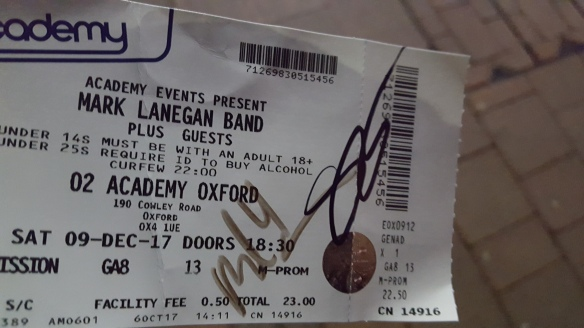 LANEGAN TICKET